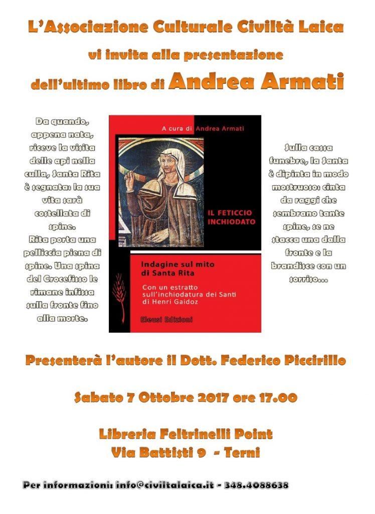 Andrea Armati a Terni con la sua indagine su S. Rita