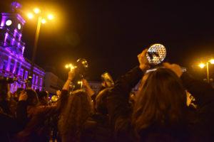 Paro intrnaciona de las mujeres en España Madrid