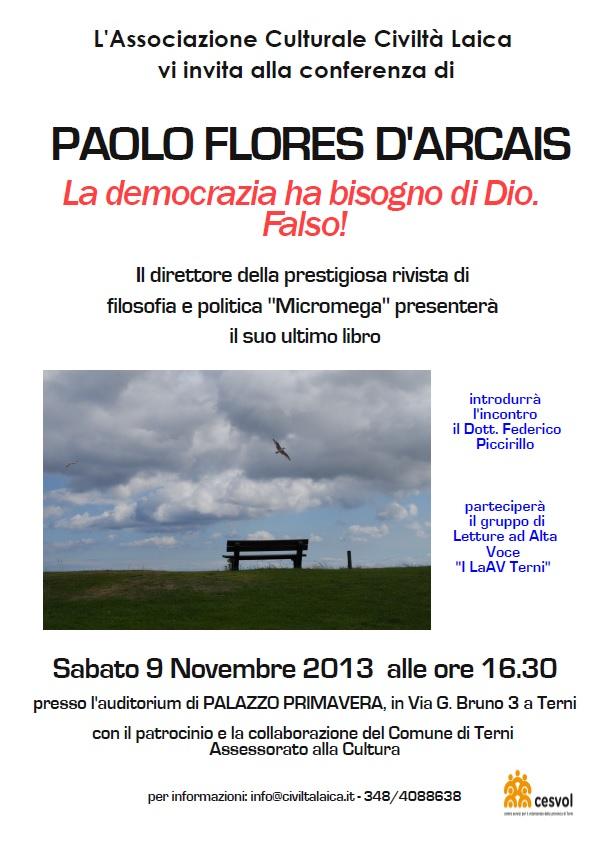 Paolo Flores D'Arcais a Terni
