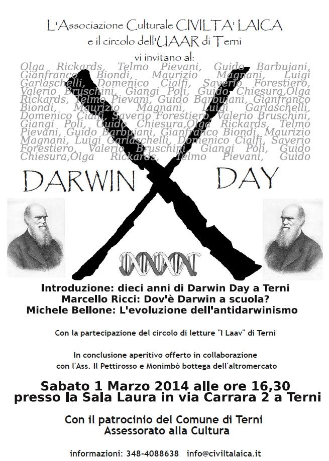Dieci anni di Darwin Day a Terni